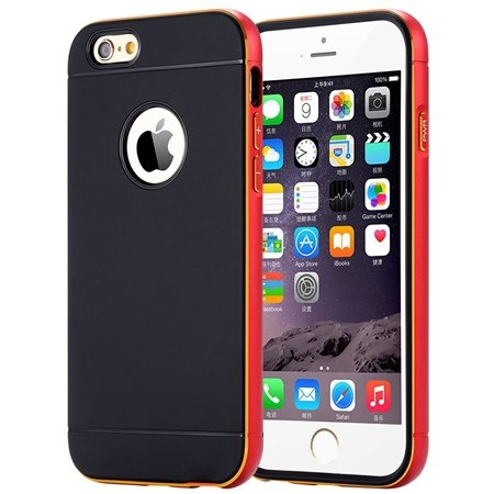 Luxury Simple Aluminum Ex Linear Frame Case For Iphone 6 4.7Inch H 32264423173-2-Red