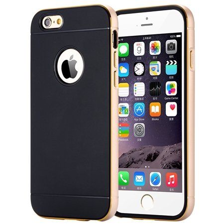 Luxury Simple Aluminum Ex Linear Frame Case For Iphone 6 4.7Inch H 32264423173-3-Gold