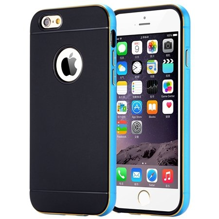 Luxury Simple Aluminum Ex Linear Frame Case For Iphone 6 4.7Inch H 32264423173-4-Blue