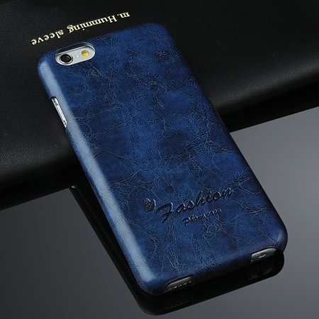New Year Luxury Wax Feeling Flip Leather Case For Iphone 6 4.7Inch 2045590088-4-Blue