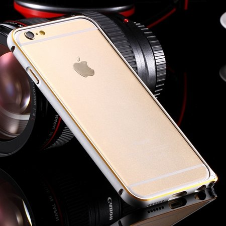 Ultra Thin Aluminum Luxury Metal Frame Bumper For Iphone 6 4.7Inch 32251693221-1-Gold and Sliver
