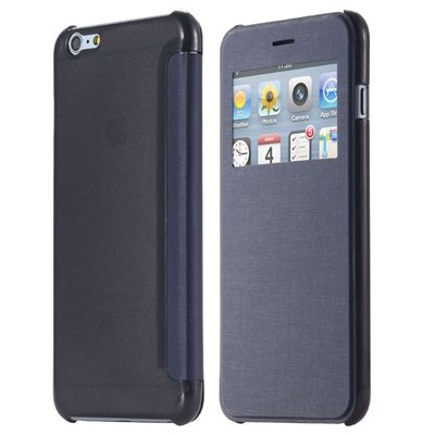 For Iphone 6 Leather Case Front Window View Pu Leather Case For Ip 32256582352-8-Navy Blue