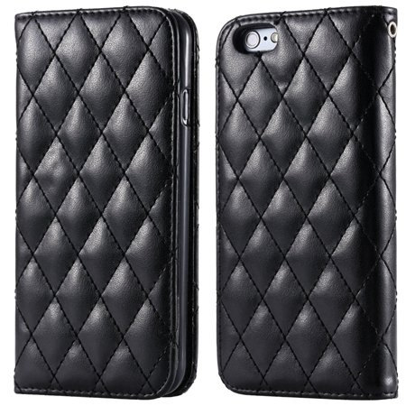 I6 Case Classic Luxury Sheep Grid Pu Leather Case For Iphone 6 4.7 32266551596-1-Black