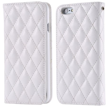 I6 Case Classic Luxury Sheep Grid Pu Leather Case For Iphone 6 4.7 32266551596-2-White