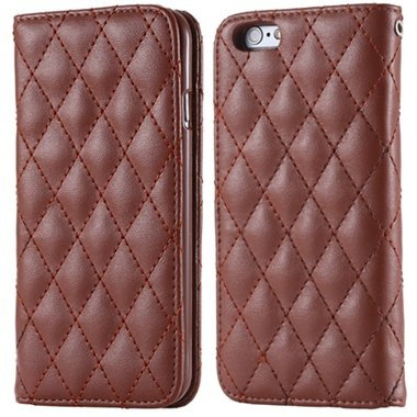 I6 Case Classic Luxury Sheep Grid Pu Leather Case For Iphone 6 4.7 32266551596-5-Brown