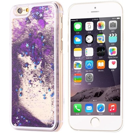 For Iphone6 Quicksand Case Cool Luxury Shinny Bling Star Case For  32275306688-2-Purple Star