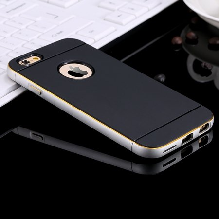 2015 Cool Navy Blue Metal Aluminium + Pc Hybrid Case For Iphone 6  32264500770-1-Sliver