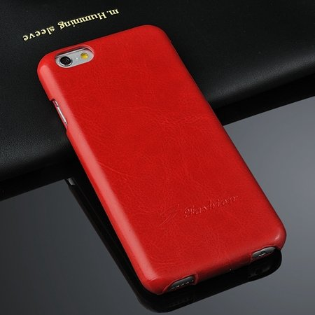 Luxury Vertical Flip Pu Leather Case For Iphone 6 4.7Inch Soft Fee 2045521298-3-Red