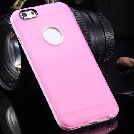 """New Arrival Cute Double Color Tpu Soft Case For Iphone 6 4.7"""""""" Flex 2041638945-9-Pink"""