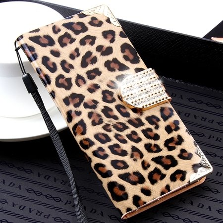 Cool Elegent Animal Leopard Leather Case For Iphone 6 4.7Inch Shin 32264556550-4-Brown