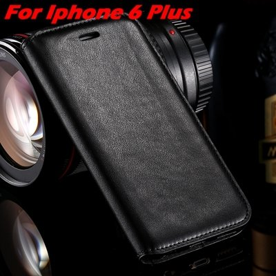For Iphone 6 Leather Case Retro Luxury Pu Leather Case For Iphone  32265895680-6-Black For I6 Plus