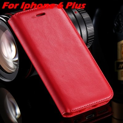 For Iphone 6 Leather Case Retro Luxury Pu Leather Case For Iphone  32265895680-8-Red For I6 Plus