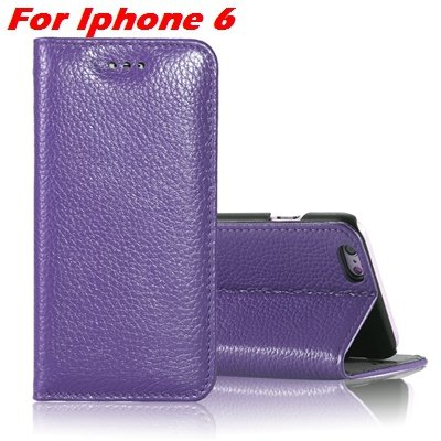 For Iphone 6 Plus Leather Case Luxury Lychee Pattern Pu Leather Ca 32259329563-4-Purple For Iphone 6