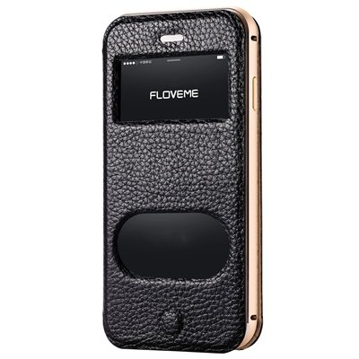 For Iphone6 Smart Case Luxury Elegent Flip Genuine Leather Case Fo 32289640573-1-Black