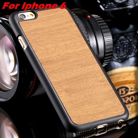 """Luxury Retro Wood Grain Hard Case For Iphone 6 4.7"""""""" Deluxe Fashion 32253933772-2-Rice  Yellow For I"""