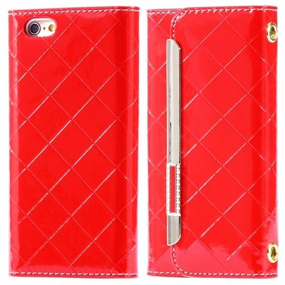 "Hot Classic Plaid Pattern Pu Leather Case For Iphone 6 4.7"""" Case W 32256588971-4-Red"
