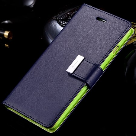 For Iphone6 Case Luxury Pu Leather Case For Iphone 6 4.7Inch Flip  32278295886-6-Dark Blue