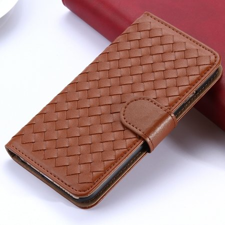 2015 Newest Cute Girl'S Pink Weave Flip Pu Leather Case For Iphone 32271815169-1-Coffee