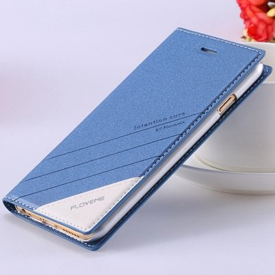 Retro Luxury Flip Pu Leather Case For Iphone 6 4.7Inch Original Ts 32265690549-2-Blue