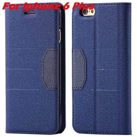 Cool Soft Feeling Pu Leather Case For Iphone 6 / Iphone 6 Plus Fli 32255922393-1-Blue For Iphone 6