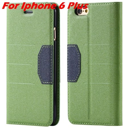 Cool Soft Feeling Pu Leather Case For Iphone 6 / Iphone 6 Plus Fli 32255922393-2-Green For Iphone 6