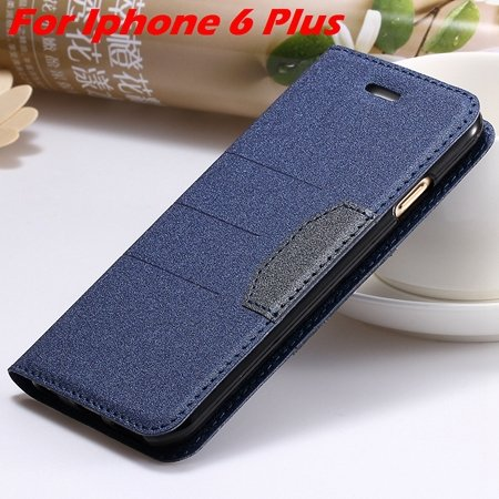Cool Soft Feeling Pu Leather Case For Iphone 6 / Iphone 6 Plus Fli 32255922393-6-Blue For I6 Plus