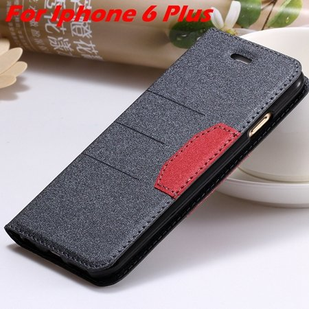 Cool Soft Feeling Pu Leather Case For Iphone 6 / Iphone 6 Plus Fli 32255922393-8-Black For I6 Plus