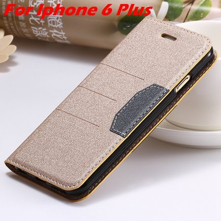 Cool Soft Feeling Pu Leather Case For Iphone 6 / Iphone 6 Plus Fli 32255922393-9-Gold For I6 Plus