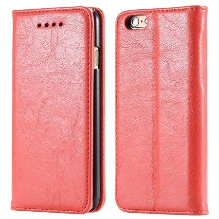 Soft Feel Original Pu Leather Case For Iphone 6 Flip Case Book Sta 32253957865-2-Orange
