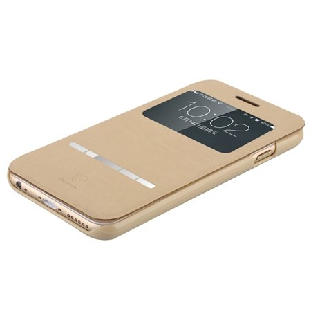 For Iphone 6 Smart Case Gold Luxury Open Window View Pu Leather Ca 32262312822-3-Khaki
