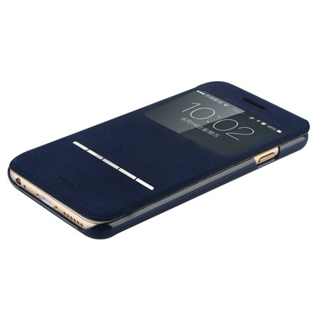 For Iphone 6 Smart Case Gold Luxury Open Window View Pu Leather Ca 32262312822-4-Blue