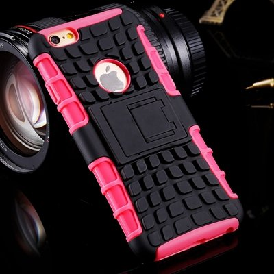 For Iphone6 Hard Case Anit-Slip 2 Parts Combo Capa Armor Case For  32294466026-6-Pink