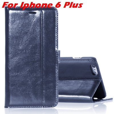 For Iphone 6 Leather Case Luxury Genuine Leather Case For Iphone 6 32266034858-4-Blue For I6 Plus
