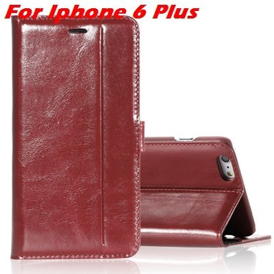 For Iphone 6 Leather Case Luxury Genuine Leather Case For Iphone 6 32266034858-5-Brown For I6 Plus