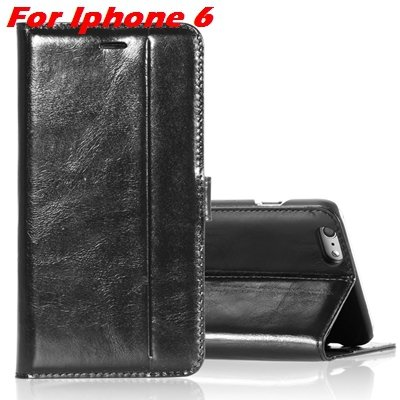 For Iphone 6 Leather Case Luxury Genuine Leather Case For Iphone 6 32266034858-7-Black For Iphone 6