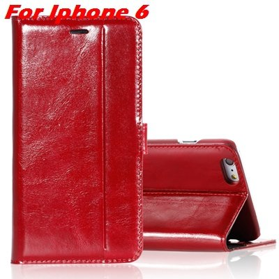 For Iphone 6 Leather Case Luxury Genuine Leather Case For Iphone 6 32266034858-8-Red For Iphone 6
