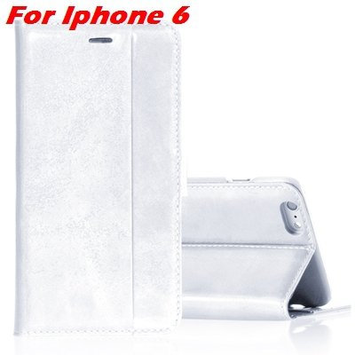 For Iphone 6 Leather Case Luxury Genuine Leather Case For Iphone 6 32266034858-10-White For Iphone 6