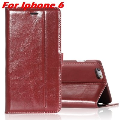 For Iphone 6 Leather Case Luxury Genuine Leather Case For Iphone 6 32266034858-11-Brown For Iphone 6