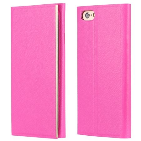 For Iphone 6 Leather Case Luxury Tendon Genuine Leather Case For I 32264069515-2-Hot Pink