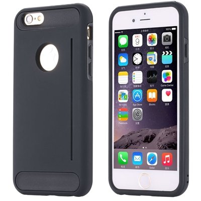 Gold Luxury Slim Skin Kick-Stand Hard Back Case For Iphone 6 4.7In 32265626720-6-Black