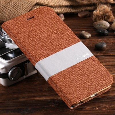 Retro Luxury Soft Feeling Cloth + Linen Pu Leather Case For Iphone 32274222249-2-Brown