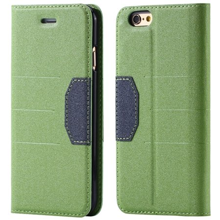 "Gold Retro Luxury Cool Pu Leather Case For Iphone 6 4.7"""" Flip Phon 32256236913-2-Green"