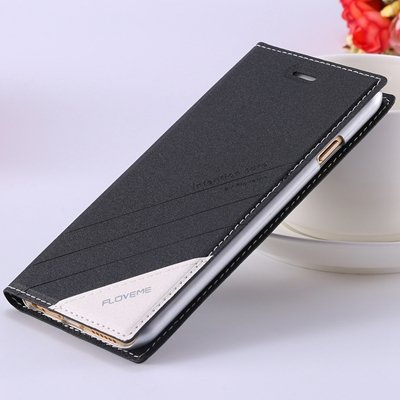 Luxury Retro Magnetic Pu Leather Case For Iphone 6 4.7Inch Full Pr 32271313270-1-Black