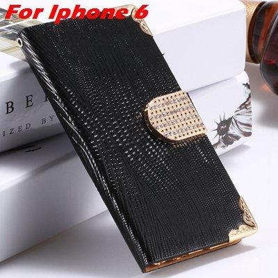 For Iphone 6 Diamond Case Girl'S Cute Luxury Bling Rhinestone Pu L 32266230500-1-Black For Iphone 6