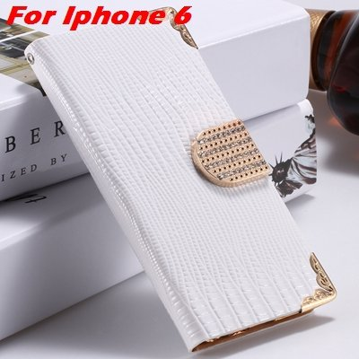 For Iphone 6 Diamond Case Girl'S Cute Luxury Bling Rhinestone Pu L 32266230500-2-White For Iphone 6
