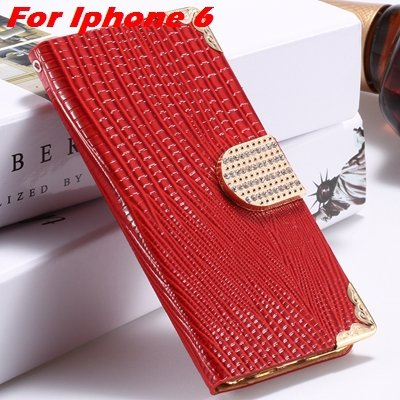 For Iphone 6 Diamond Case Girl'S Cute Luxury Bling Rhinestone Pu L 32266230500-3-Red For Iphone 6
