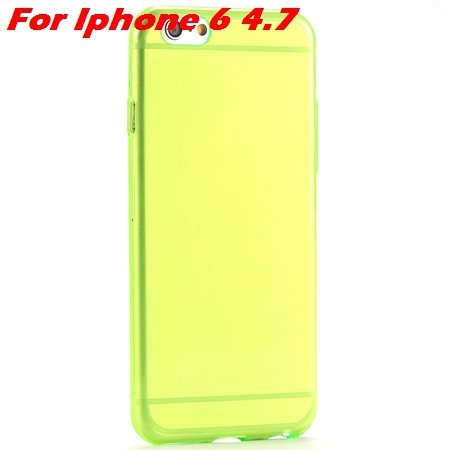 "High Quality Soft Back Cover Shell For Iphone6 4.7"""" Ultra Light Cl 32222098041-3-Green For Iphone 6"