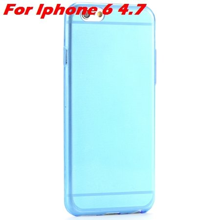 "High Quality Soft Back Cover Shell For Iphone6 4.7"""" Ultra Light Cl 32222098041-4-Blue For Iphone 6"