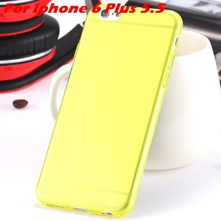 """High Quality Soft Back Cover Shell For Iphone6 4.7"""""""" Ultra Light Cl 32222098041-12-Yellow For I6 Plu"""
