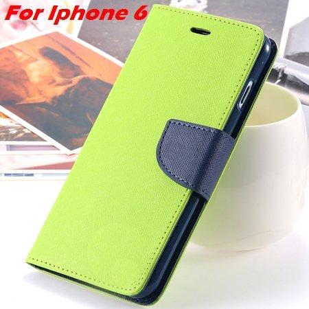 New Retro Flip Leather Case For Iphone 6 Plus & Iphone 6 Flip Case 2051510402-1-Green For Iphone 6